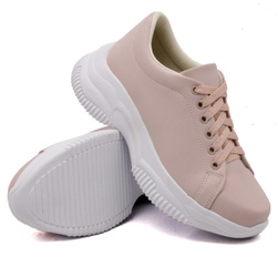 Tênis Casual Chuncky Rosê Sola Tratorada DKShoes - Rilu Fashion