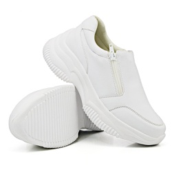 Tênis Casual Chuncky Zíper Branco Sola Tratorada D... - Rilu Fashion