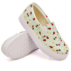 Slip On Estampado Verde Abacate DKShoes - Rilu Fashion