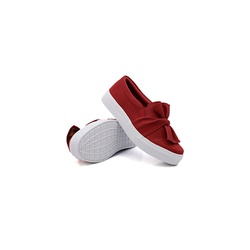 Slip On Laço Infantil Vermelho DKShoes - Rilu Fashion