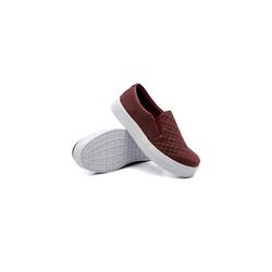 Slip On Matelassê Infantil Marsala DKShoes - Rilu Fashion