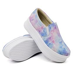 Slip On Liso Sola Alta Tie Dye DKShoes - Rilu Fashion