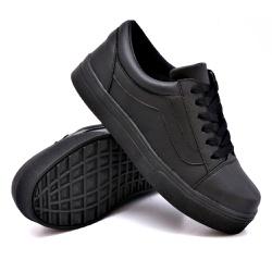 Tênis Casual Listra Preto Sola Preta DKShoes - Rilu Fashion