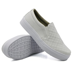 Slip On Matelassê Branco DKShoes - Rilu Fashion