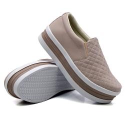 Slip On Matelassê Sola Alta Rosê DKShoes - Rilu Fashion