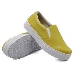 Slip On Liso Mostarda DKShoes - Rilu Fashion