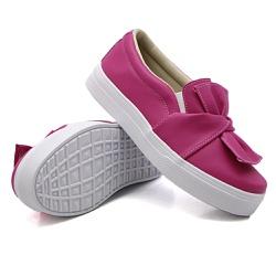 Slip On Laço Pink DKShoes - Rilu Fashion