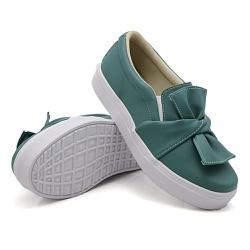 Slip On Laço Verde Pino DKShoes - Rilu Fashion