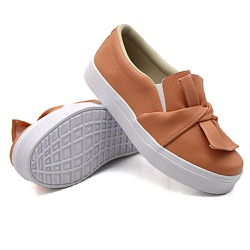 Slip On Laço Laranja Papaya DKShoes - Rilu Fashion