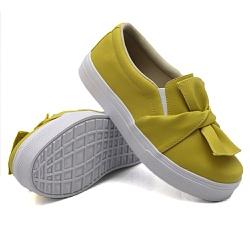 Slip On Laço Mostarda DKShoes