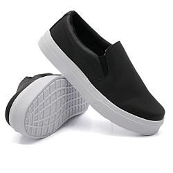 Slip On Liso Preto DKShoes - Rilu Fashion