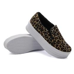 Slip On Liso Sola Alta Onça DKShoes - Rilu Fashion