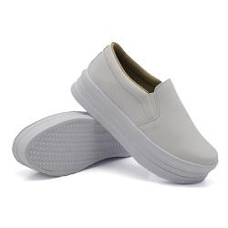 Slip On Liso Sola Alta Branco DKShoes - Rilu Fashion