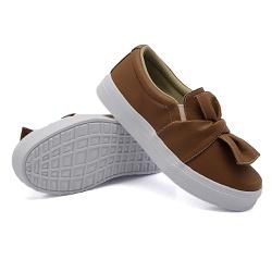 Slip On Laço Caramelo DKShoes - Rilu Fashion