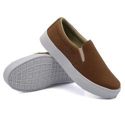 Slip On Calce Fácil Caramelo DKShoes - Rilu Fashion