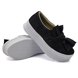 Slip On Laço Sola Alta Jeans DKShoes - Rilu Fashion