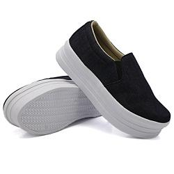 Slip On Liso Sola Alta Jeans DKShoes - Rilu Fashion