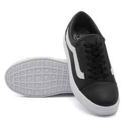 Tênis Casual Listra Preto DKShoes - Rilu Fashion
