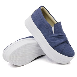 Slip On Nó Sola Alta Jeans Claro DKShoes - Rilu Fashion