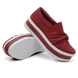 Slip On Nó Sola Alta Vermelho DKShoes - Rilu Fashion