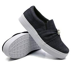 Slip On Pérola Jeans DKShoes - Rilu Fashion