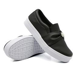 Slip On Pérola Preto DKShoes - Rilu Fashion