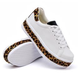 Tênis Casual Pietra Branco Sola Alta Onça DKShoes - Rilu Fashion