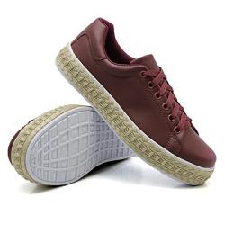 Tênis Casual Pietra Corda Marsala DKShoes - Rilu Fashion