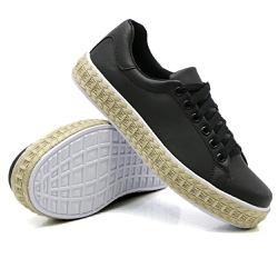 Tênis Casual Pietra Corda Preto DKShoes - Rilu Fashion