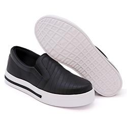 Slip On Pietra Costura Pala Preto DKShoes - Rilu Fashion