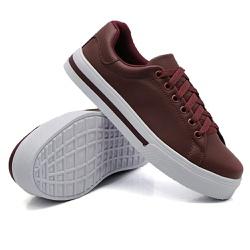 Tênis Casual Pietra Listra Marsala DKShoes - Rilu Fashion