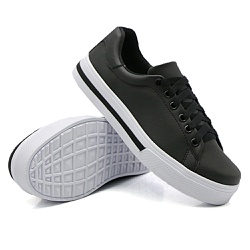 Tênis Casual Pietra Listra Preto DKShoes - Rilu Fashion