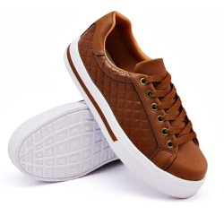 Tênis Casual Pietra Matelassê Caramelo DKShoes - Rilu Fashion