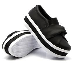 Slip On Nó Sola Alta Preto DKShoes - Rilu Fashion