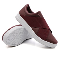 Slip On Siena Elástico Marsala DKShoes - Rilu Fashion