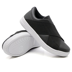 Slip On Siena Elástico Preto DKShoes - Rilu Fashion