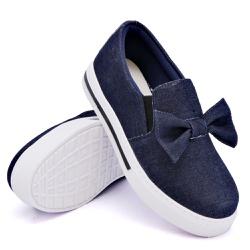 Slip On Siena Laço Deitado Jeans DKShoes - Rilu Fashion