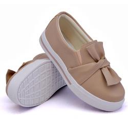 Slip On Siena Laço Rosê DKShoes - Rilu Fashion