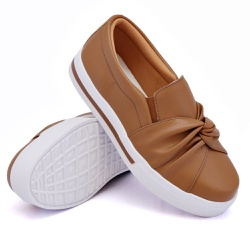 Slip On Siena Nó Caramelo DKShoes - Rilu Fashion