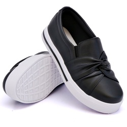 Slip On Siena Nó Preto DKShoes - Rilu Fashion