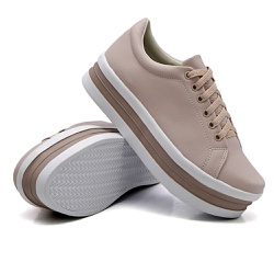 Tênis Casual Siena Sola Alta Rosê DKShoes - Rilu Fashion
