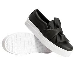Slip On Laço Preto DKShoes - Rilu Fashion