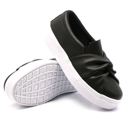 Slip On Nó Preto DKShoes - Rilu Fashion