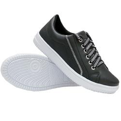 Tênis Casual Costura Preto DKShoes - Rilu Fashion