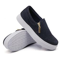 Slip On Calce Fácil Zíper Jeans DKShoes - Rilu Fashion