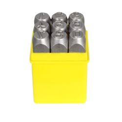 Jogo de Punção Numérico 9 peças 8,00mm 60,0008 ROCAST - Ritec Máquinas e Ferramentas