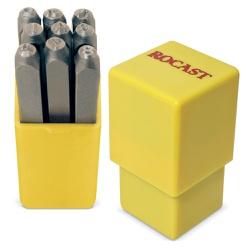 Jogo de Punção Numérico 9 peças 5,00mm 60,0006 ROCAST - Ritec Máquinas e Ferramentas