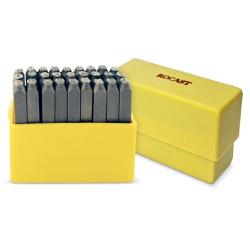 Jogo de Punção Alfabético 27 peças 5,00mm 60,0016 ROCAST - Ritec Máquinas e Ferramentas