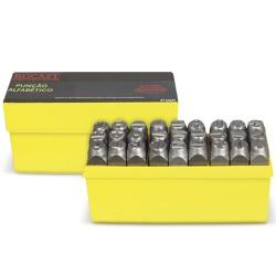 Jogo de Punção Alfabético 27 peças 8,00mm 60,0018 ROCAST - Ritec Máquinas e Ferramentas