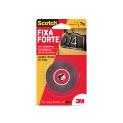 Fita Dupla Face Fixa Forte Áreas Externas 24mm x 1,5 m - 3M - Ritec Máquinas e Ferramentas